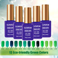 13 Green Color Nails Gel Professional 15ml Unhas de Gel Profissional UV Colored Gel Nail Polish Manicure Gel Permanent polish