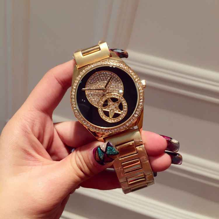 ФОТО Luxury Ladies Fashion Rhinestone Dress Quartz Watch Women Crystal Stainless Steel Wristwatch Reloje Mujer Montre Femme OP001