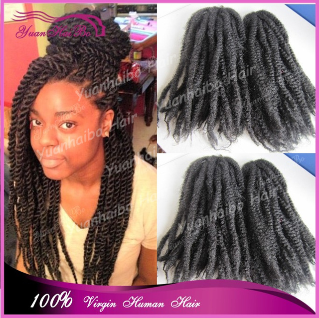 Stock 20in Folded Black Color Afro Kinky Twist Kanekalon