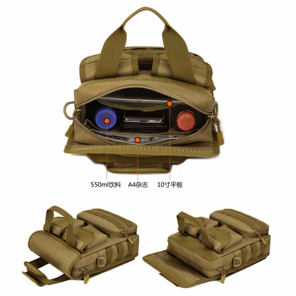 Outdoor Climbing Military Tactical Rucksacks Sport Camping Hiking Trekking Commuting Single Shoulder Bags