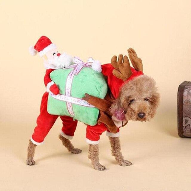 Vestiti Di Natale Per Cani.Us 17 89 Pet Dog Costume Vestiti Di Natale Per Halloween Gatto Divertente Abbigliamento Cappotto Per Cani Piccoli E Grandi Babbo Natale E Pupazzo Di
