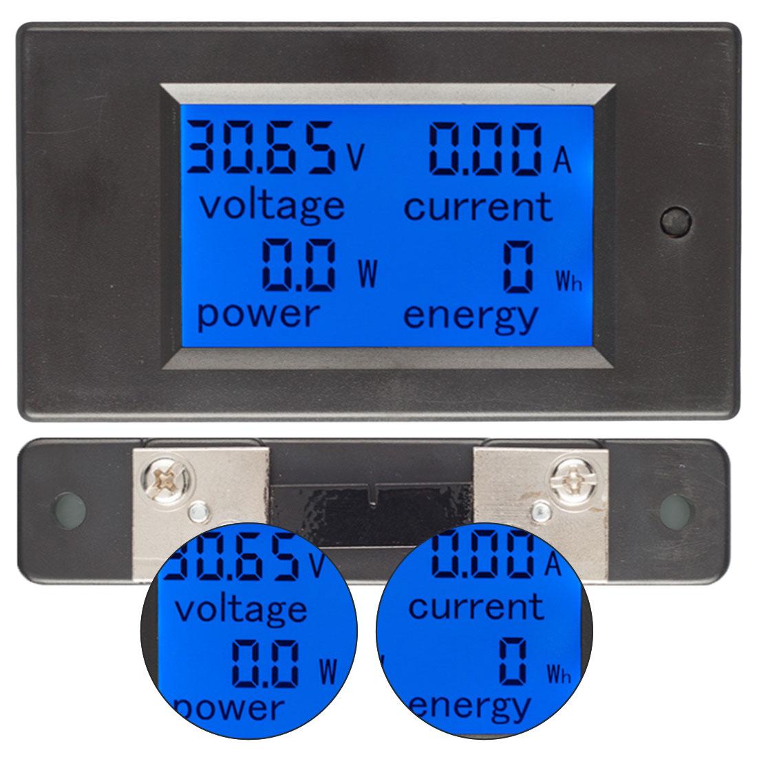 LCD Display DC 6.5-100V 0-100A Digital Current Voltage Power Energy Meter Multimeter Ammeter Voltmeter 100A Current Shunt