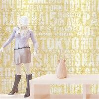 beibehang English letter map women shop children 's clothing shop wallpaper modern bakery coffee bar works wallpaper