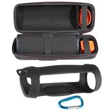 2 in 1 Harde EVA Rits Carry Opbergdoos Tas + Soft Silicone Case Cover voor JBL Lading 4 Bluetooth speaker voor JBL Charge4 Kolom