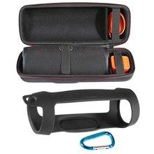 2 w 1 twardy EVA Zipper Carry torba do przechowywania + miękki futerał silikonowy pokrywa dla JBL Charge 4 głośnik Bluetooth dla JBL Charge4 kolumna