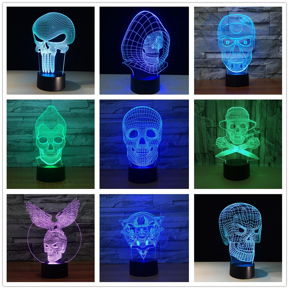 Led Lamps New Wolf 3d Acrylic Lamp 3d Visual Small Desk Lamp Deco Enfant Chambre Table Lamps For Living Room Night Light Superior Materials