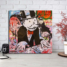 Monopolyingly Wallpapers Canvas Painting Print Bedroom Home Decor Modern Wall Art Oil Poster Picture Artwork
