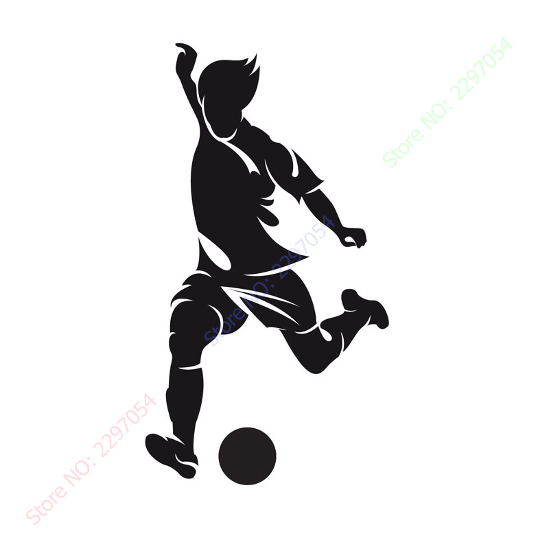 Free shipping New Left Foot Striker Football Wall Paper Living Room Decorative Sport Player Wall Sticker Home Decor