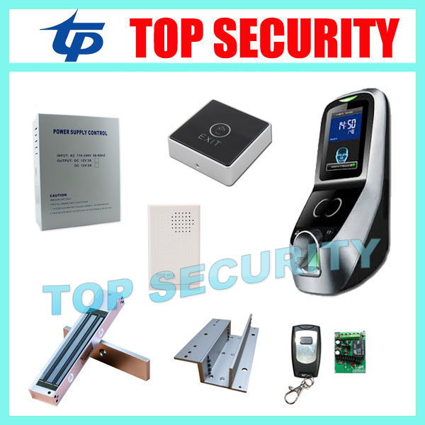 Biometric face and fingerprint access controller TCP/IP ZK multibio700 facial time attendance and door security control system tcp ip biometric face recognition door access control system with fingerprint reader and back up battery door access controller