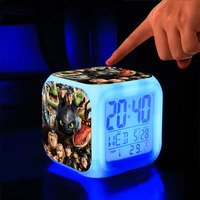 How To Train Your Dragon Alarm Clock Cartoon Game Action Figure Night Glowing Digital Clock Calendar