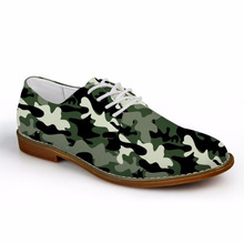 Customized Camo Printed Fashion Summer Spring Men Oxfords Shoes Leather Casual Shoes Breathable Male Casual Flats EVA Shoes