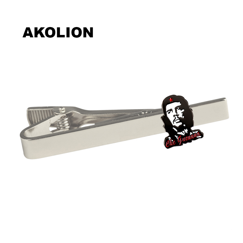 Painstaking Che Guevara Silver Metal Tie Clip Tie Pin For Men Gift Tie Bar Fashion Jewelry 100pcs We Take Customers As Our Gods
