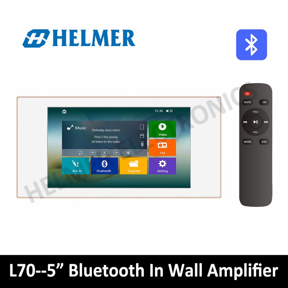 5 Class D amplifier with touch screen Bluetooth in wall home audio amplifier Digital stereo Amplifier