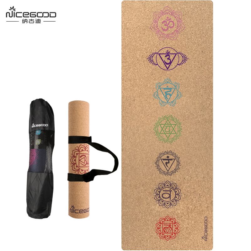 Non Slip Cork Yoga Mat For Pilates Hot Yoga And Outdoor Sports Antibacterial Bath Carpet Eco