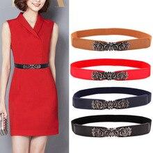 KWD Designer Belts High Quality Women Fashion 2018 Ladies Elastic Rose Flower Vi