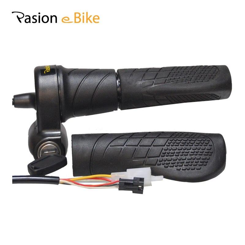 PASION E <font><b>BIKE</b></font> <font><b>Electric</b></font> Bicycle Twist Speed Throttle Locks 24V 36V 48V 60V 72V <font><b>Electric</b></font> <font><b>Bike</b></font> Parts Ebike Twist Throttle Recambios