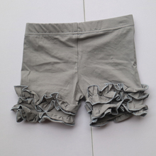 grey summer pant dress novelty ruffle short leggings high quality child capris