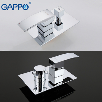 GAPPO Wall bathroom shower faucet brass set rainfall shower mixer tap chrome bathtub faucet tap waterfall Bath Shower 9