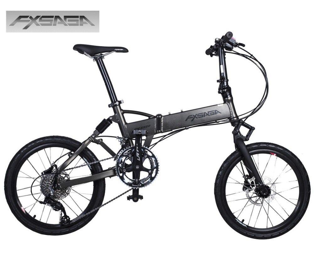 """""""FXSAGA 20"""""""" дюймовый Алюминиевый 9 скоростей полный подвески M355 гидравлические дисковые тормоза складной bicyle велосипед сложить велосипед"""""""