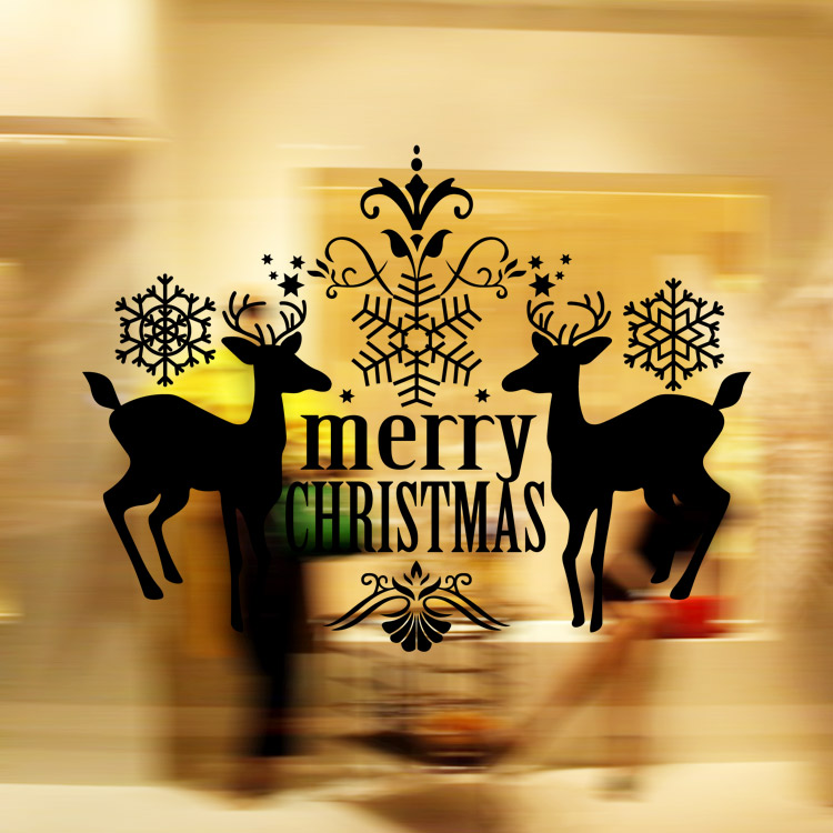 Modern wall art home decoration wall stickers Christmas decor black ...