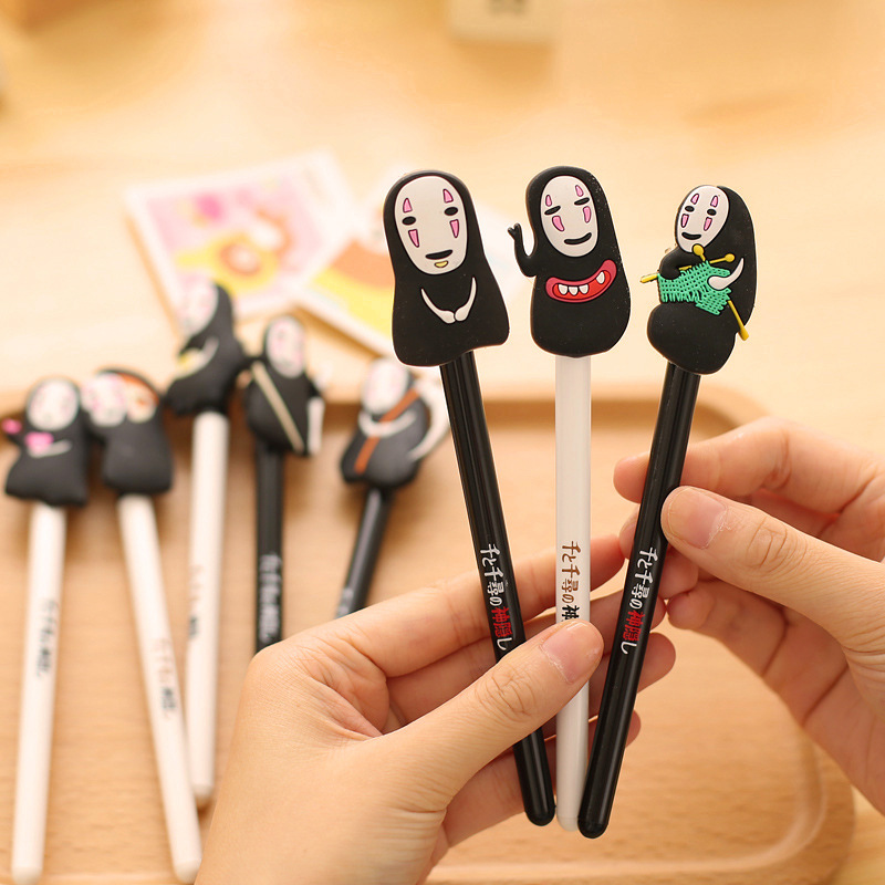 Image 3 - QSHOIC  25 PCS/lot South Korea stationery hayao miyazaki cartoon pen Spirited away ghost pen creative men without a cartoon faceghost pencartoon penspirited away pen -