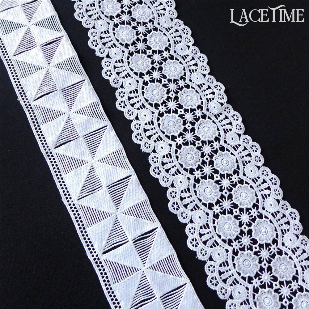 5 inch wide  pink embroidery lace trim price for 1 yard