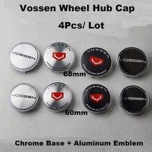 4Pcs 60MM 68MM Auto Wheel Hub Cap Car Center Emblem Cover