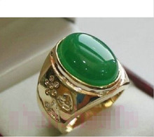 wan wan+++ shipping> >>>Men's Fashion natural green jade ring :8-12# 5.24(China)