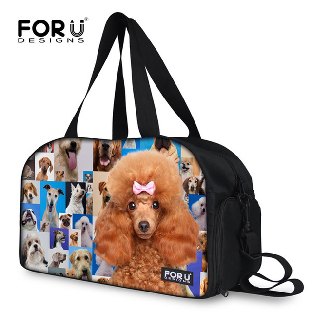 New 2016 Brand 3D Animal Dog Face Gym Bags Large designer Sport Bag for Women Waterproof Ladies Fitness Bag Female Gym Tote