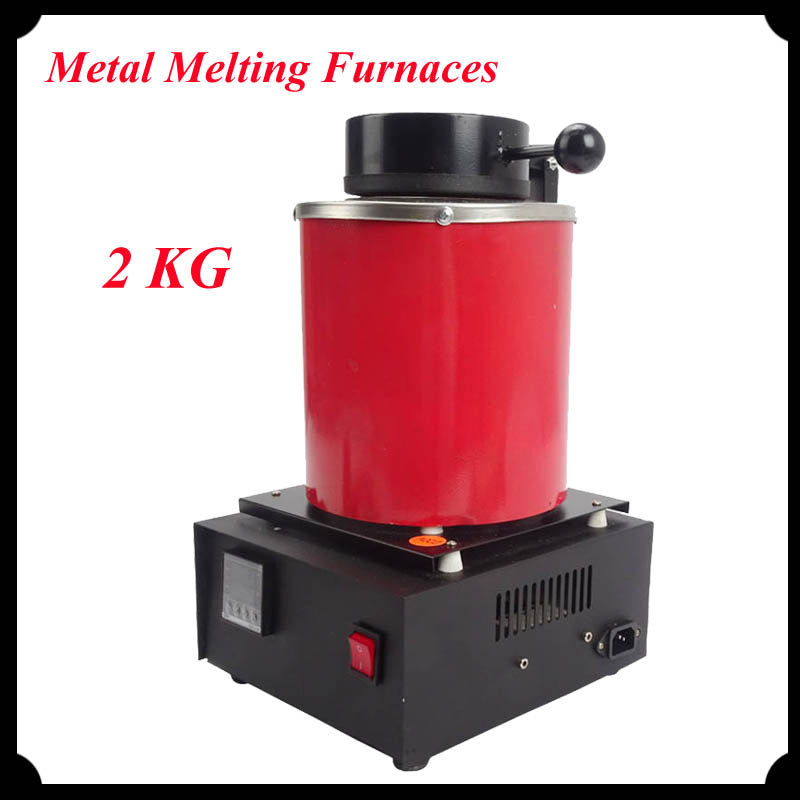 1pc 220V 2KG Capacity Gold Metal Melting Furnaces With Graphite Crucible & Plier Electric Gold Melting Furnace
