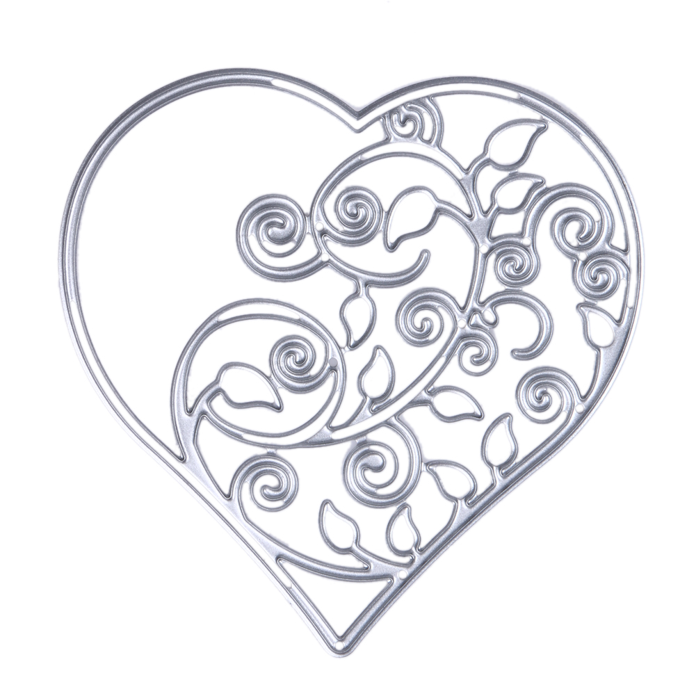 ᗕAhueca hacia fuera el metal del corazón Recortes de papel ...