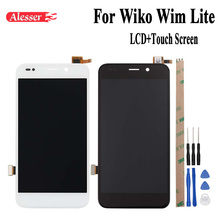 Alesser 1920x1080 FHD For Wiko Wim Lite LCD Display and Touch Screen New Digitizer Assembly Repair Parts 5 Inch+Tool +Adhesive