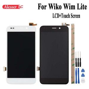 Image 1 - Alesser 1920x1080 FHD pour Wiko Wim Lite écran LCD et écran tactile nouveau numériseur assemblée pièces de réparation 5 pouces + outil + adhésif