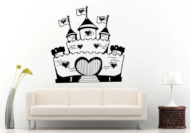 Little Princess Castle Heart Shaped Wall Or Car Decal DIY Vinyl - How to make vinyl car decals at home