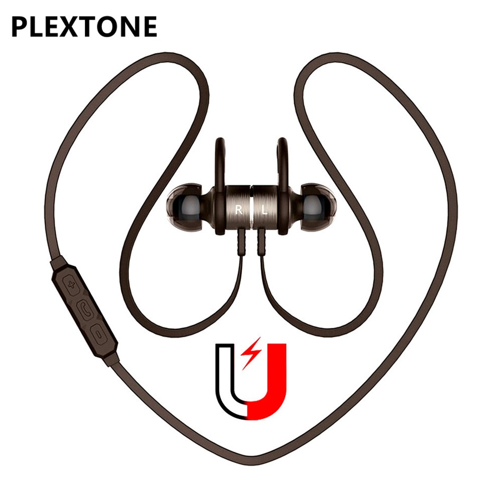 PLEXTONE Magnetic Bluetooth Earphone Sport Wireless Headsets with Mic Bass Earphone For Phone Stereo In-ear Earbuds auriculares high quality laptops bluetooth earphone for msi gs60 2qd ghost pro 4k notebooks wireless earbuds headsets with mic