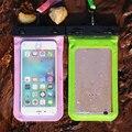 Bolso impermeable de pvc para iphone 7 case en para iphone 5s 6 6 s 7 7 más case para samsung xiaomi htc huawei teléfono móvil bolsa