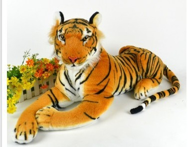 Cute New Simulation Artificial Soft Hot High-grade Super Realistic Simulation Tiger Plush Toys Children's Birthday Present