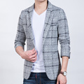 2017 New Arrival Fashion Men Plaid Blazers Single-Breasted Suit Brand Fashion Casual Slim Fit Suit Blazers Jacket plus-size 5XL