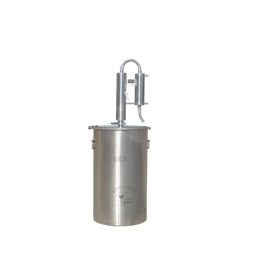 60L Destilador De Cerveja Que Faz A Máquina de Cerveja Sem Álcool Moonshine Uísque Vodka Uísque Brandy Distillory de Grau Alimentício 304 de Aço Stianless