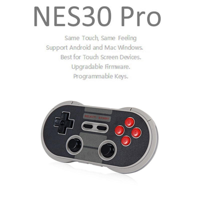 8Bitdo NES30 Pro Wireless Bluetooth Controller Dual Classic Joystick for iOS Android Gamepad Game Controller PC Mac Linux