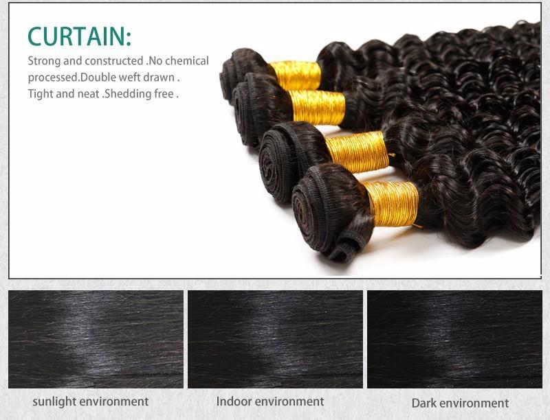 Brazilian Virgin Hair Deep Wave Lace Closure Free3middle Part 4X4 Size Lace Brazilian Deep Weaving closure  Alimice Hairstyle (6)