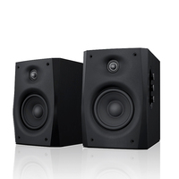 HiVi Swans D1010 IV Powered 2.0 Bookshelf Speaker 2 way 4th order vented 4 midbass driver 0.8 dome tweeter POWER 10 50W