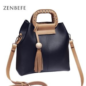 ZENBEFE композитная сумка, роскошная женская сумка, модная Брендовая женская сумка-мессенджер, сумочка с кисточками и сумочка, сумка через плеч...