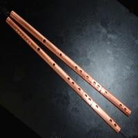 Chinese Flute Red Copper Metal Flute Dizi C DE F G KEY Metal Flauta Transverse Flute Musical Instruments Self defense Weapon