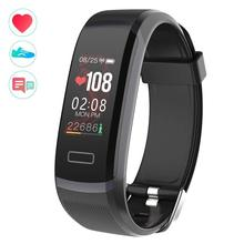 """Longet GT101 Smart bracelet 0.96"""" Color Screen Fitness Tracker dynamic Real-time Heart Rate Monitor down to sec & stopwatch"""