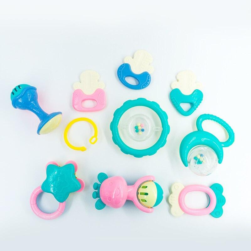10 шт./компл. Fun немного громко Jingle Ball кольцо развивать ребенка разведки обучение схватив способность погремушки Игрушки для маленьких детей 0-12 месяцев