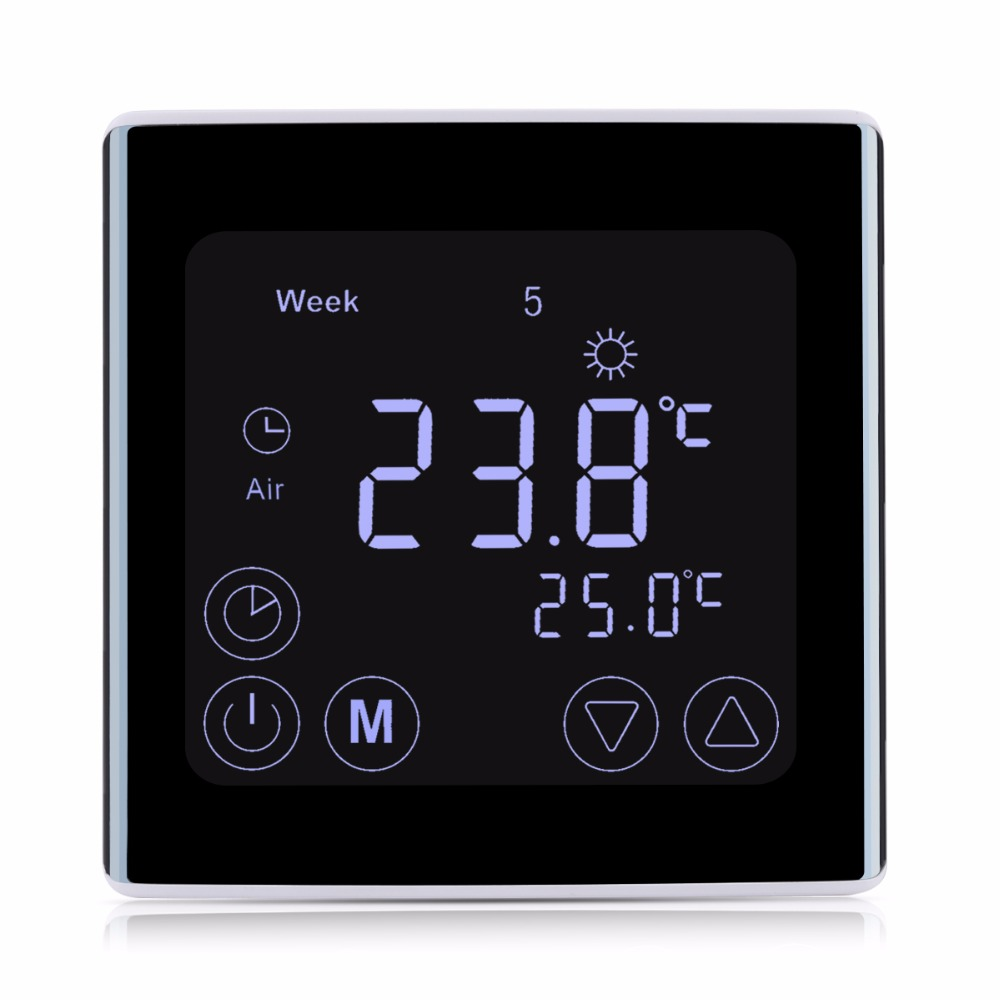 Floureon BYC17GH3 LCD Touch Screen Room Underfloor Heating Thermostat Weekly Programmable Thermoregulator Temperature Controller online shop floureon byc17gh3 lcd touch screen room underfloor c17 thermostat wiring diagram at crackthecode.co