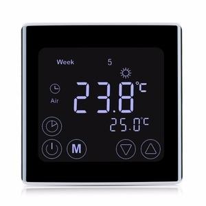 Image 3 - Floureon BYC17GH3 液晶タッチスクリーン床下暖房のサーモスタットウィークリープログラマブル温度調節温度コントローラ