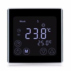 Image 3 - Floureon byc17gh3 lcd tela de toque quarto aquecimento por piso radiante termostato semanal programável termorregulador controlador temperatura