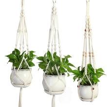 Новое поступление Подвеска для растений из макраме Подвеска для цветов горшок вешалка подвесное растение для внутреннего балкона